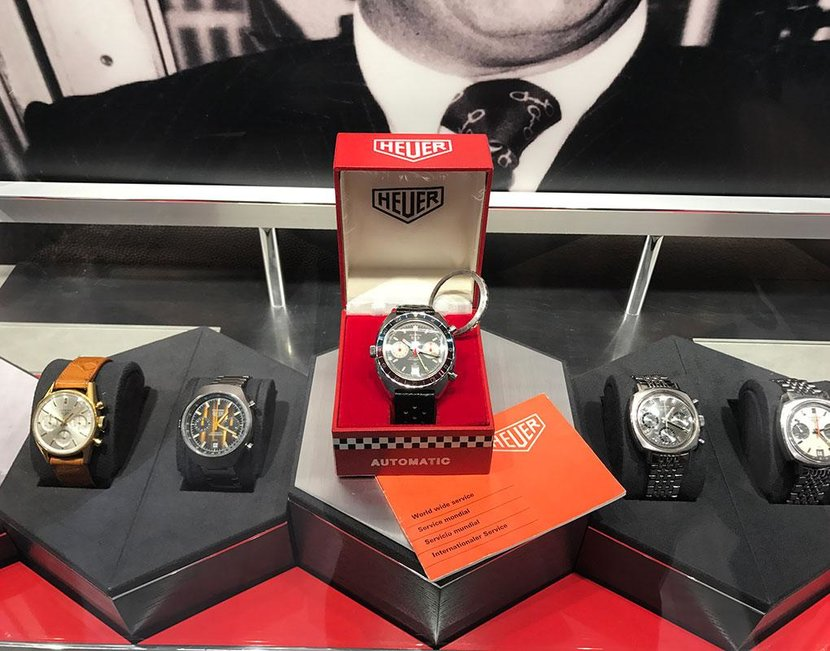 The theme for the Dubai exhibition was sailing and diving watches