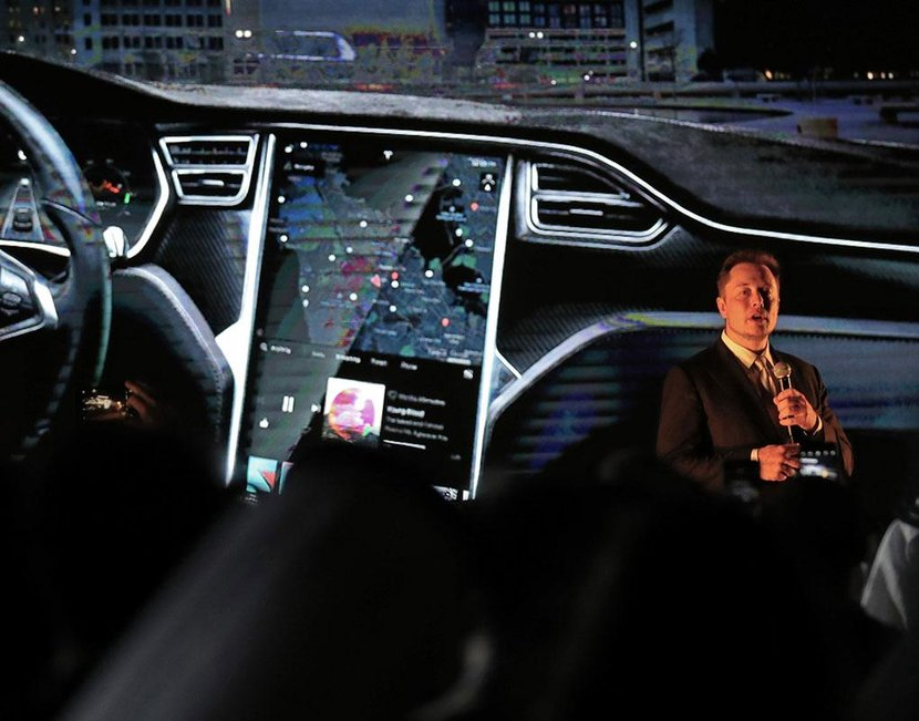 Elon Musk at the official Tesla launch in Dubai