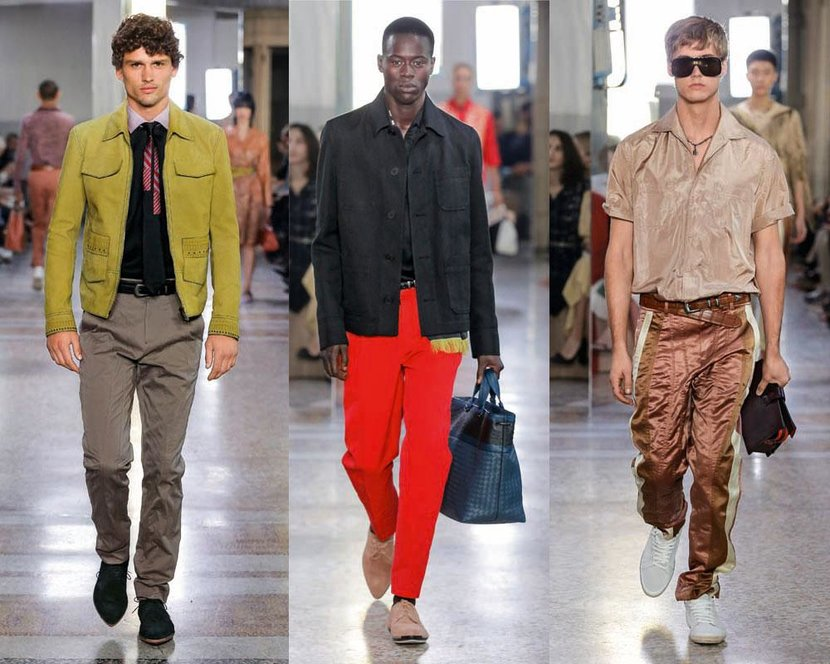 Bottega Veneta's Creative Director Tomas Maier chose to keep things casual this season