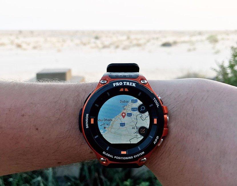 Casio's Pro Trek is a smartwatch with built-in GPS