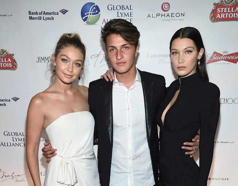Anwar with his supermodel sisters: Gigi and Bella