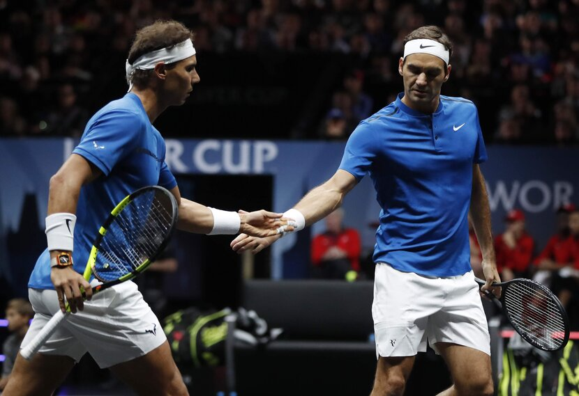 Federer and Nadal. Also known as 'the dream team'