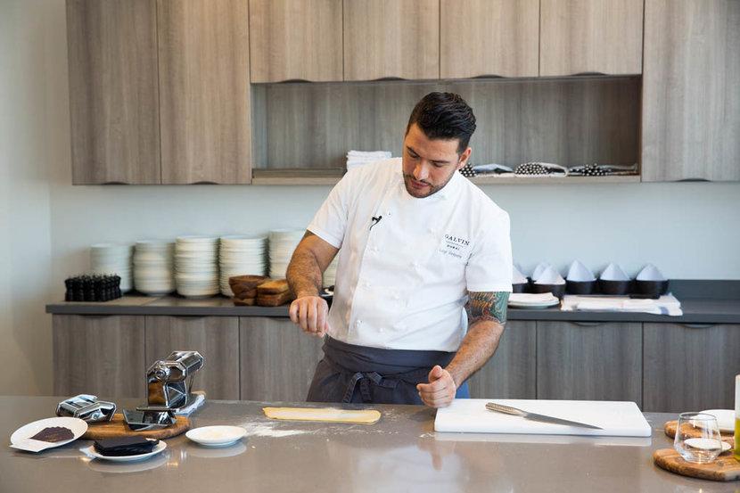 Chef Luigi Vespero  Masterclass   Esquire townhouse event  held at volante tower Abraj street business bay