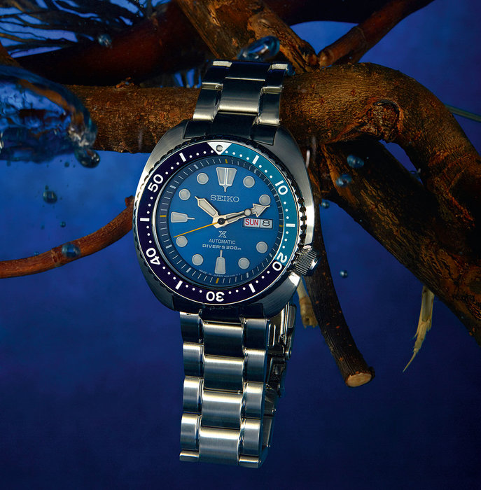 SRPB11J1Seiko Prospex Blue Lagoon (Turtle) Limited Edition Automatic Divers, 200 meters AED2,250
