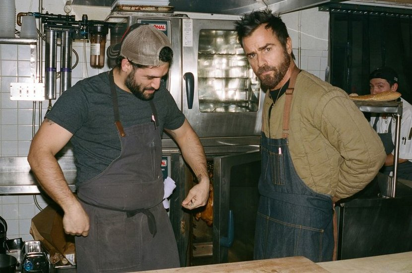 Justin Theroux, Food, New york