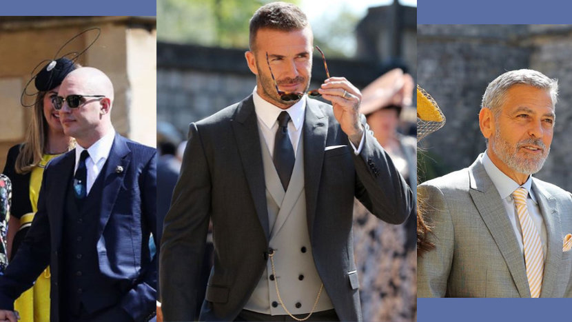 Royal Wedding, Morning coats, Prince Harry, George Clooney, James Middleton, Alexis Ohanian, Tom hardy, Idris Elba, David Beckham