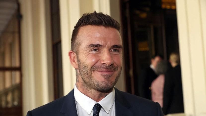 David Beckham, Blue Suit, Celebrity Style, Street style