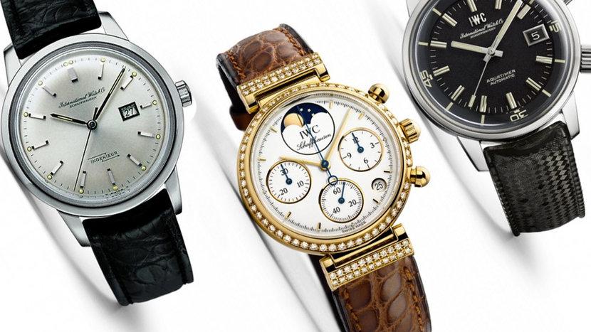 IWC, Jones Calibre, The Pallweber Pocket Watch, Pallweber, Portugieser, Ingenieur, Aquatimer, Da Vinci Perpetual Calendar, Big Pilot's Watch, Big Pilot