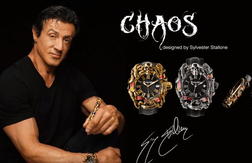 Montegrappa, Sylvester Stallone, Chaos watches, Chaos pens
