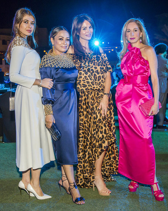 Dina Melwani, Sakshi Nath, Dania Sadik and Angela Cid