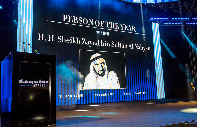 Person of the year, HH Sheikh Zayed bin Sultan Al Nahyan