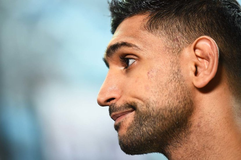 BOLTON ENGLAND  SEPTEMBER 10 Amir Khan talks to the press during a media day at the Amir Khan Boxing Academy on September 10 2018 in Bolton England Photo by Nathan StirkGetty Images