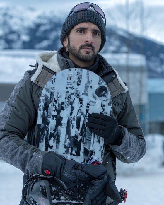 Sheikh Hamdan, Dubai, Snowboarding, Winter, Winter travel, Crown Prince