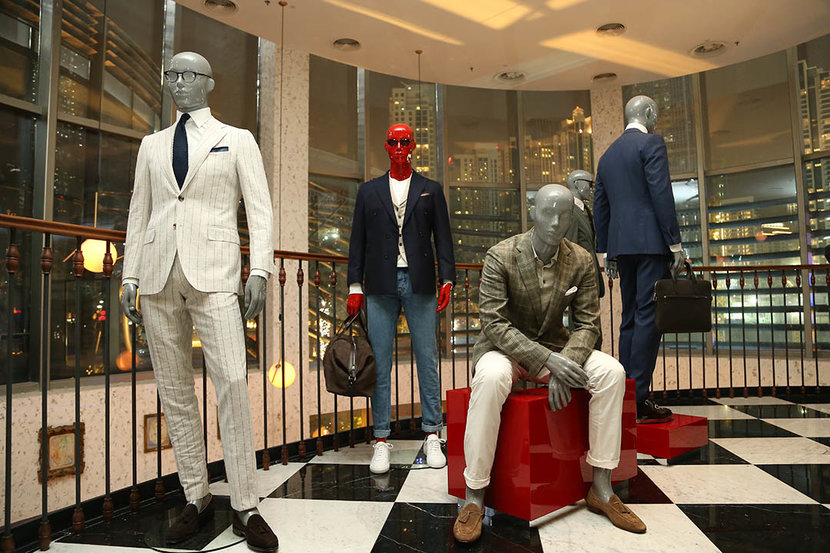 Looks on display from Suitsupply