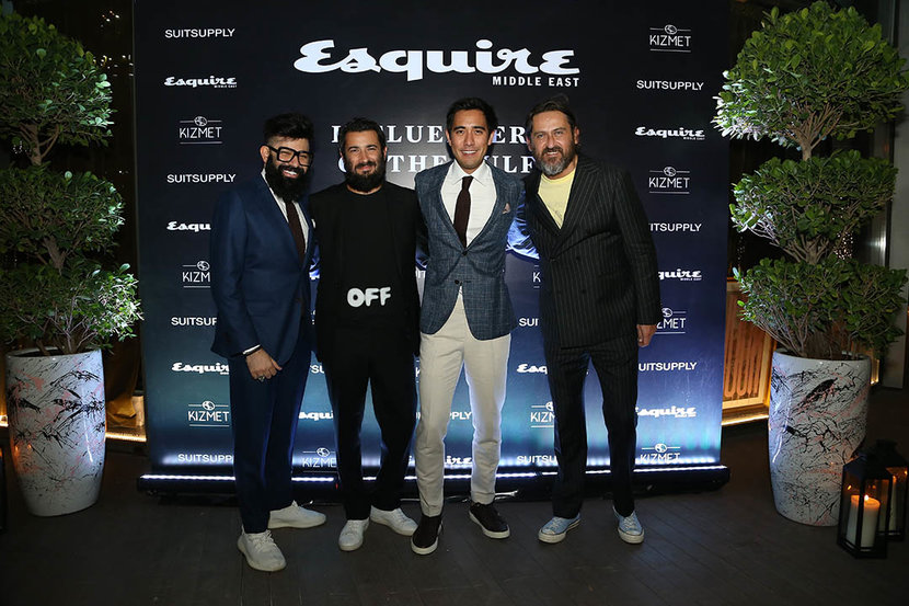 DVLZgame, Zach King and Esquire's Matthew Baxter-Priest and Mark McMahon - all wearing Suitsupply