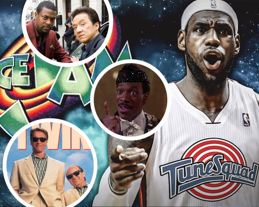 Hollywood Sequels, Child's Play, Grease, Austin Powers, Space Jam, Tom Gun, Who Framed Roger Rabbit, Rush Hour, Coming to America, Twins