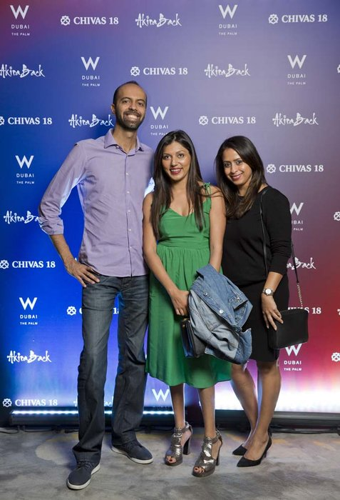 Ritesh Tilani Avani Thakrar and Sheena Kotecha   Chivas 18 Event  Esquire  W Hotel Plam   Dubai   photo by Ajith Narendra  ITP Images