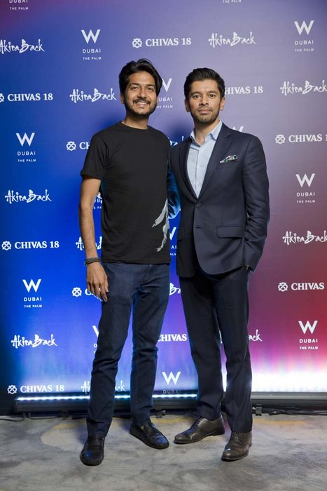 kunal Lahori and Benny Parihar   Chivas 18 Event  Esquire  W Hotel Plam   Dubai   photo by Ajith Narendra  ITP Images17042019_Chivas 18 Event ESQ