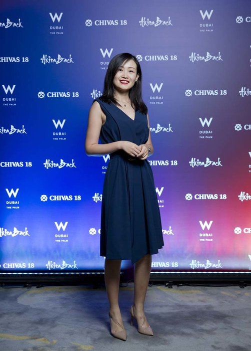 Huixin Cao  Chivas 18 Event  Esquire  W Hotel Plam   Dubai   photo by Ajith Narendra  ITP Images17042019_Chivas 18 Event ESQ