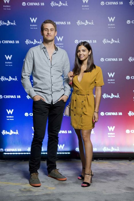 Vincent Varga and Zoe Andersen   Chivas 18 Event  Esquire  W Hotel Plam   Dubai   photo by Ajith Narendra  ITP Images