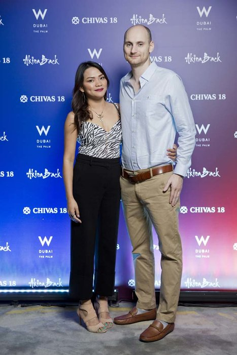 Normita sacmar and Richard Botley   Chivas 18 Event  Esquire  W Hotel Plam   Dubai   photo by Ajith Narendra  ITP Images17042019_Chivas 18 Event ESQ