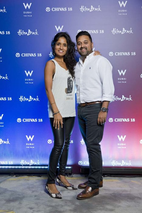 Neesha and Nikhil Mankad   Chivas 18 Event  Esquire  W Hotel Plam   Dubai   photo by Ajith Narendra  ITP Images17042019_Chivas 18 Event ESQ
