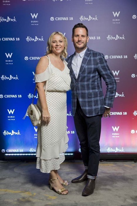 Anita and Nick Baker   Chivas 18 Event  Esquire  W Hotel Plam   Dubai   photo by Ajith Narendra  ITP Images 17042019_Chivas 18 Event ESQ