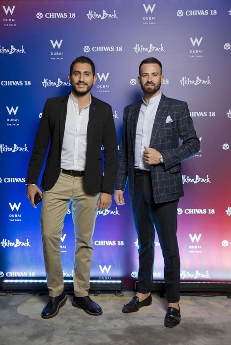 Roberto Bonaventura and Ghady Felfleh   Chivas 18 Event  Esquire  W Hotel Plam   Dubai   photo by Ajith Narendra  ITP Images17042019_Chivas 18 Event ESQ