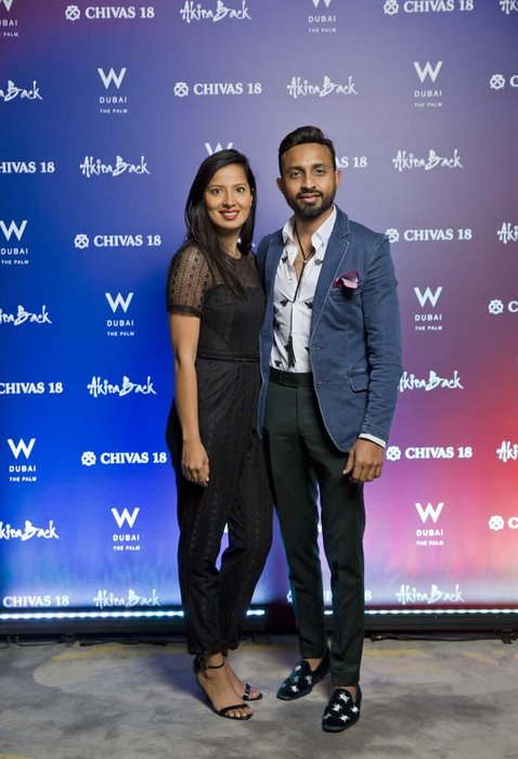 Fatema Fazal and Asif Somji   Chivas 18 Event  Esquire  W Hotel Plam   Dubai   photo by Ajith Narendra  ITP Images 17042019_Chivas 18 Event ESQ