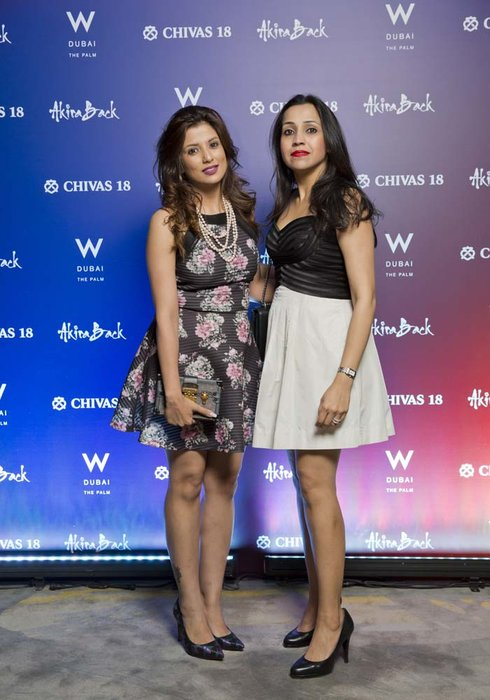 Vinita Hirani and Shikha khatri   Chivas 18 Event  Esquire  W Hotel Plam   Dubai   photo by Ajith Narendra  ITP Images17042019_Chivas 18 Event ESQ