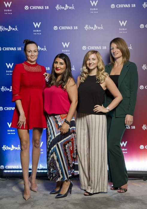 Emma Mc Creery Breen Ash Bhamra Alexandra Beard Laura Jackson   Chivas 18 Event  Esquire  W Hotel Plam   Dubai   photo by Ajith Narendra  ITP Images17042019_Chivas 18 Event ESQ