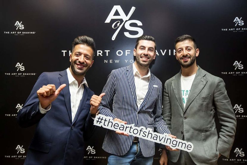 Nael Abu Al Teen  Wael Abu Al Teen  Felipe Gonzalez The Art of Shaving Green Room Citywalk The Art of Shaving The Art of Shaving Dubai  United Arab Emirates 4212019 Photo by Jessica SamsonITP ImagesThe Art of Shaving