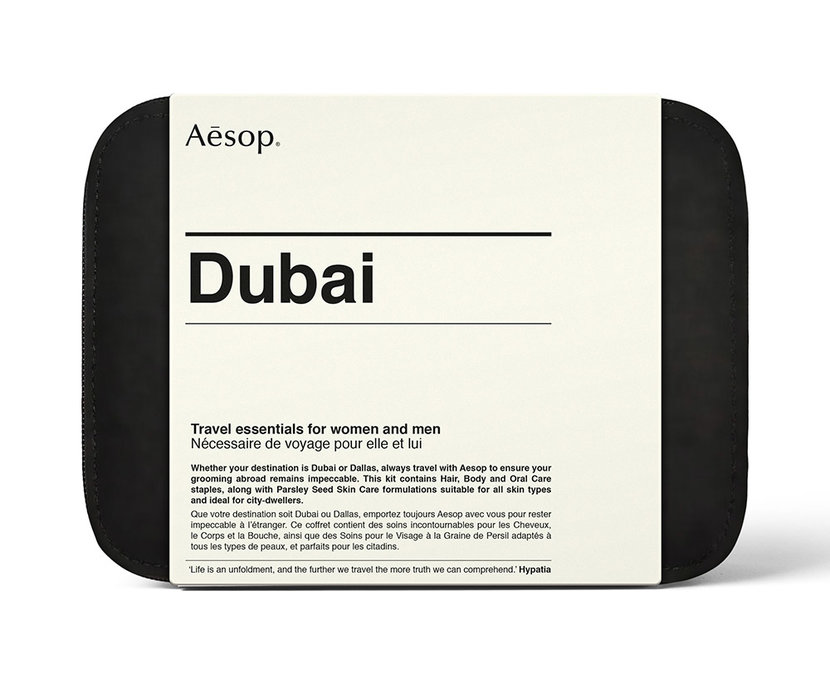 Aesop, Grooming, Travel