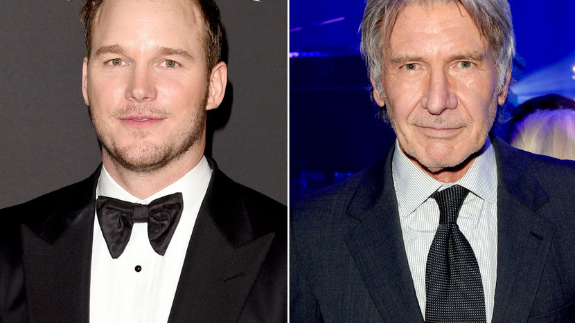 Indiana jones, Chriss pratt, Harrison Ford