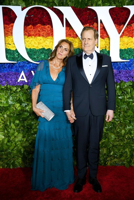 Kathleen Rosemary Treado and Jeff Daniels wearing Giorgio Armani