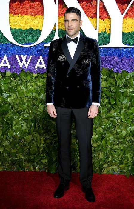 Zachary Quinto wearing Emporio Armani