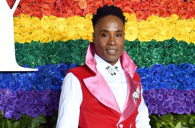 Billy Porter wearing Celestino Couture