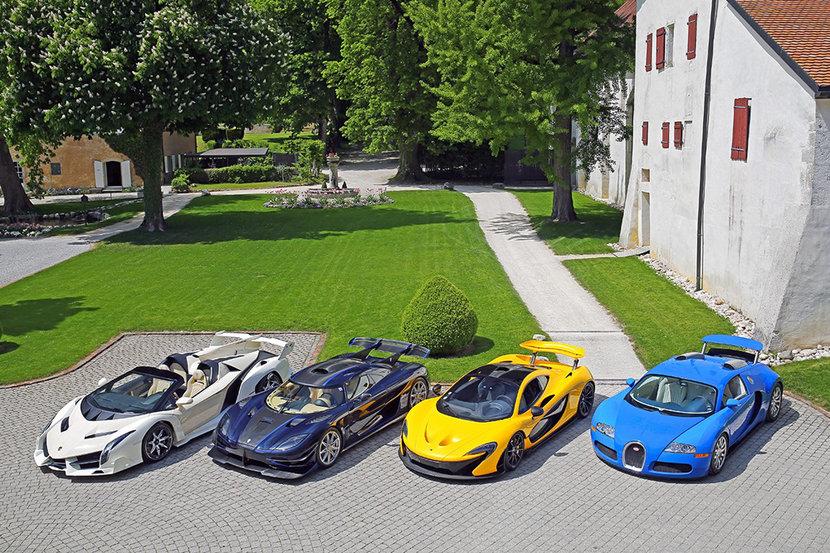 Auction, Hypercars, Bugatti, Ferrari, Aston Martin, McLaren, Lamborghini, Koenigsigg