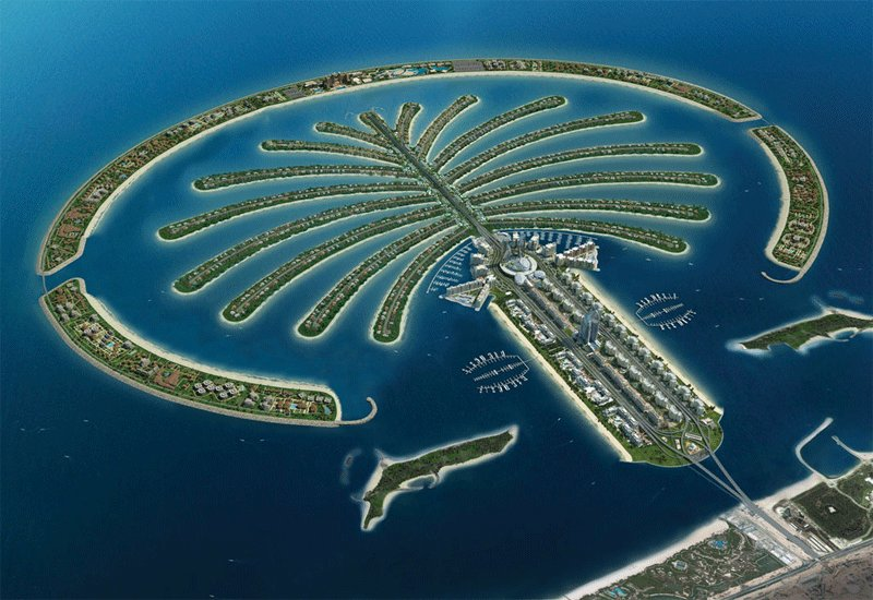 International space station, Palm Jumeirah, Palm Jebel Ali, World islands