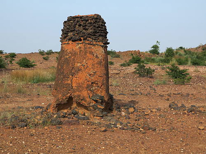 Ancient ferrous metallurgy sites of Burkina Faso - The property includes about fifteen standing, natural-draught furnaces well as several other furnace structures, mines and traces of dwellings, which are evidence of iron production in the African country of Burkina Faso.