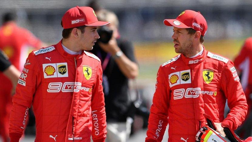 Sebastian Vettel, Ferrari, Formula One, F1, Charles Leclerc
