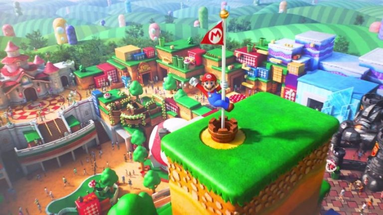 Super Mario World, Universal Studios, Mario, Nintendo