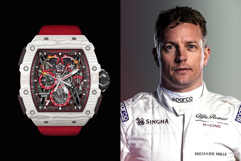 Richard Mille, Luxury Watchmaker, F1, Kimi Raikkonen, Alfa Romeo