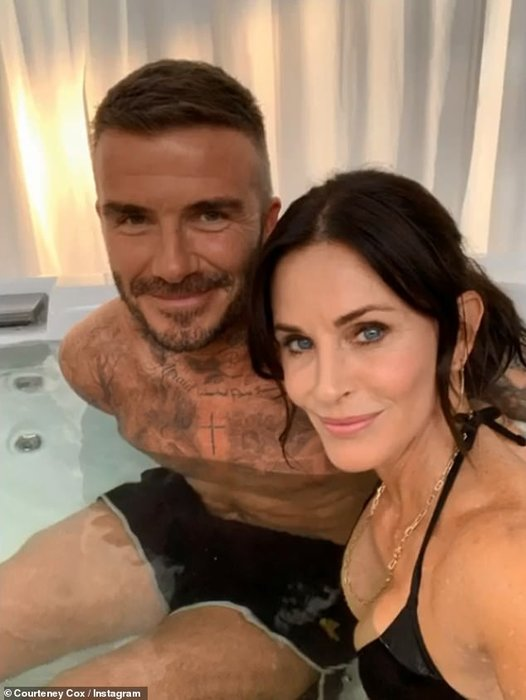 David Beckham, Courteney cox, Modern family