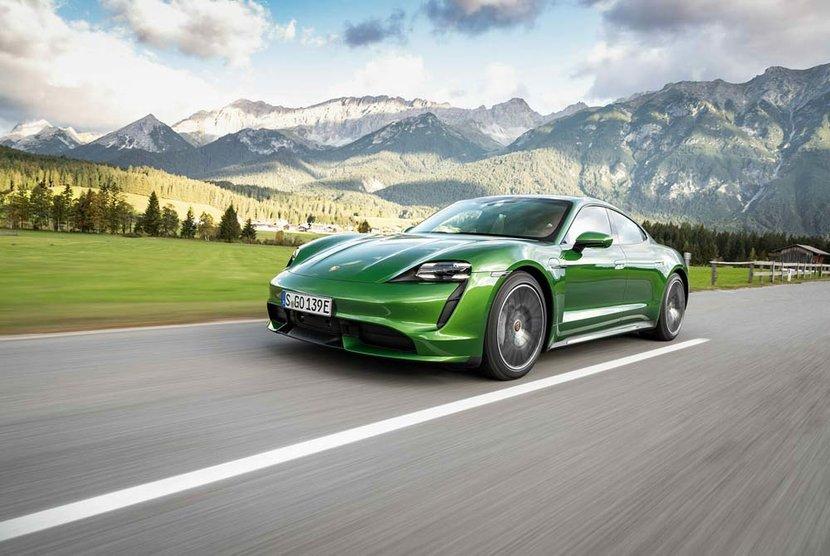 Tesla, Porsche, Taycan, Electric car