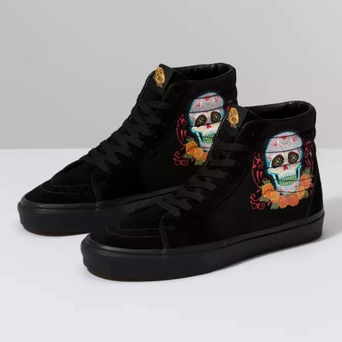 Vans, Sneakers, Shoes, Halloween, Day of the Dead