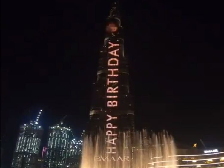Shah Rukh Khan, Burj Khalifa