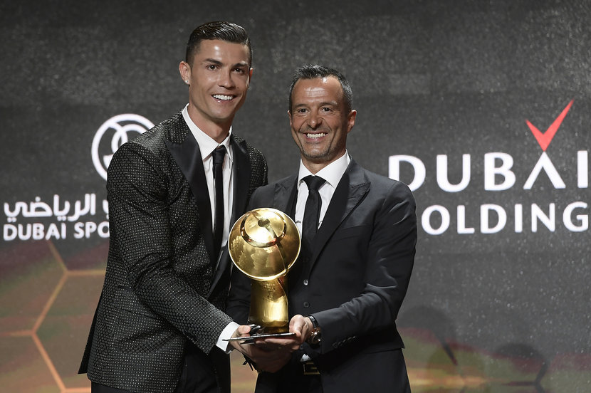 Cristiano Ronaldo and the best agent of the year Jorge Mendes.