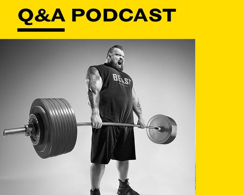 Eddie Hall, World's Strongest Man, Podcast, EsquireQ&A
