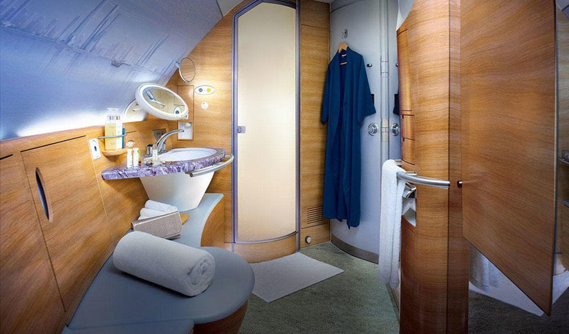 Emirates Airlines, Emirates shower attendants